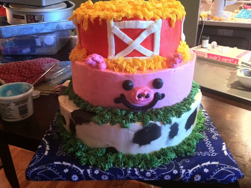 Cake Designs No Fondant : Birthday Cakes Megan Hart Cake Designs